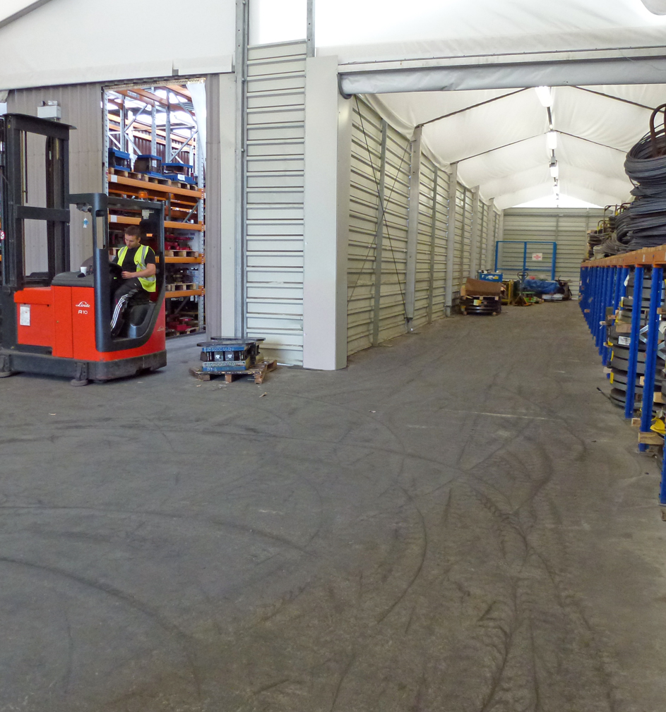 Quick Space warehouses can be built to suit the space you have
